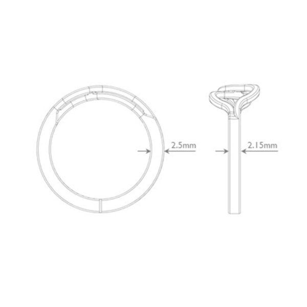 Infiniti Ring Dimensions