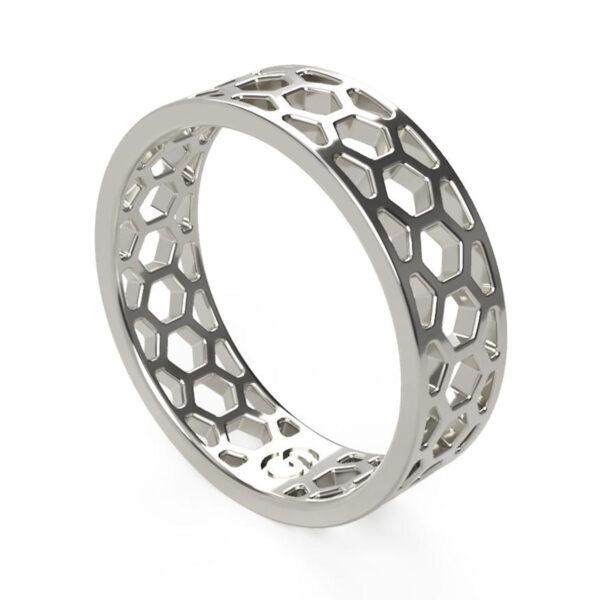 Uniti 1966 Platinum white gold silver Ring for him