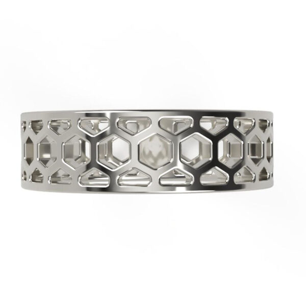 Uniti 1966 Platinum white gold silver Ring for him top