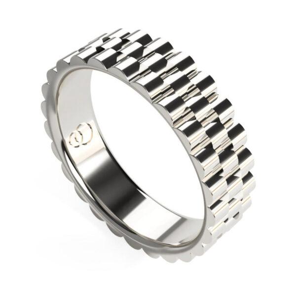 Uniti Binary Platinum white gold silver Ring