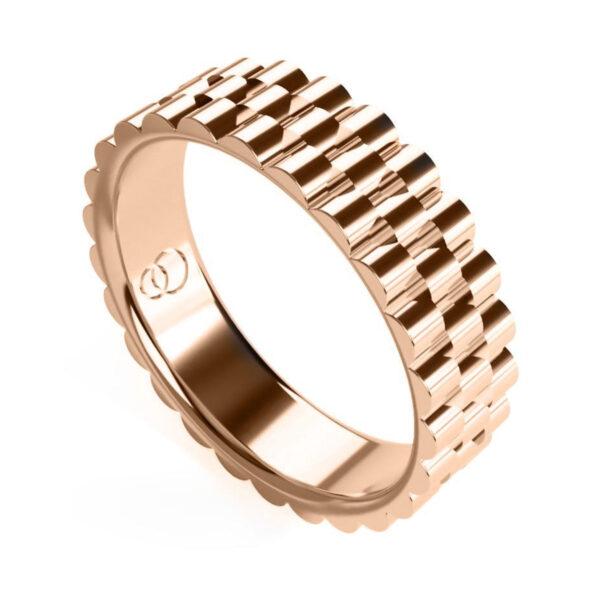Uniti Binary Red Gold Ring