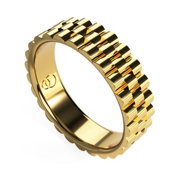 Uniti Binary Yellow Gold Ring