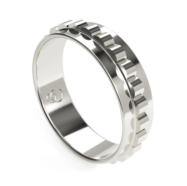 Uniti Cognitive Platinum white gold silver Ring