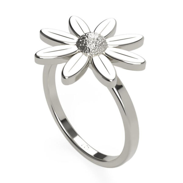Uniti Daisy Platinum white gold silver Ring