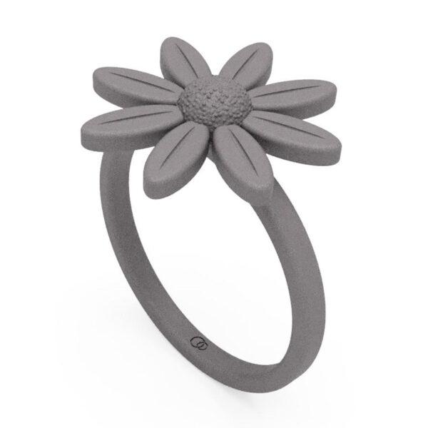 Uniti Daisy Titanium Ring