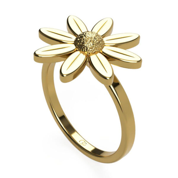 Uniti Daisy Yellow Gold Ring
