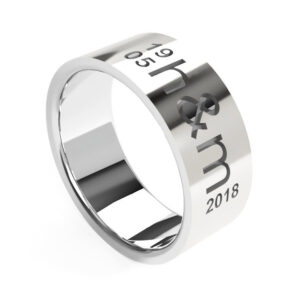Uniti Everlasting Platinum white gold silver Ring for him