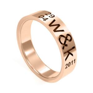 Uniti Everlasting Red Gold Ring for her