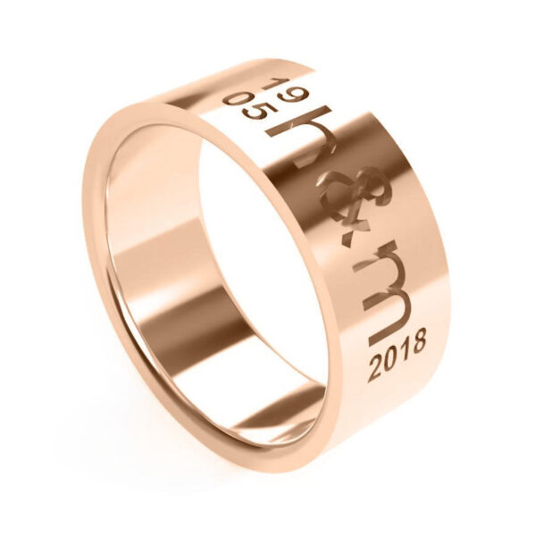 Uniti Everlasting Red Gold Ring for him
