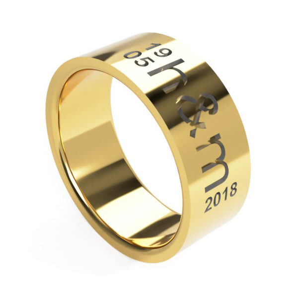 Uniti Everlasting Yellow Gold Ring for him