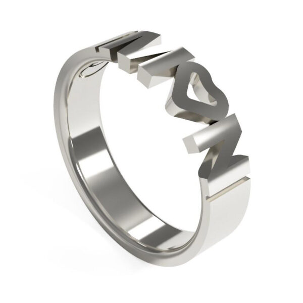 Uniti Forever Platinum white gold silver Ring