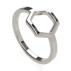 Uniti Hive Platinum white gold silver Ring
