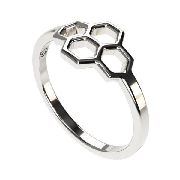 Uniti Honeycomb Platinum Ring