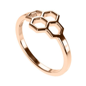 Uniti Honeycomb Red Gold Ring