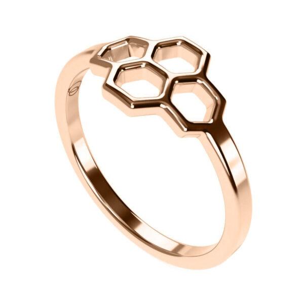 Uniti Honeycomb Red Gold Ring