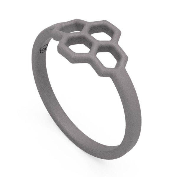 Uniti Honeycomb Titanium Ring
