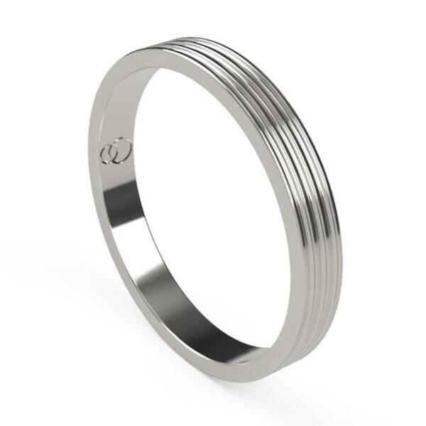 Uniti Saturn Platinum white gold silver Wedding Ring for her