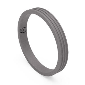 Uniti Saturn Titanium Wedding Ring for her