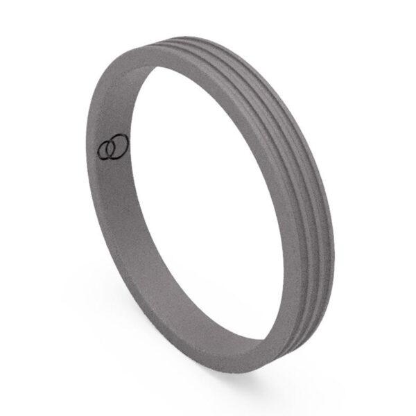 Uniti Saturn Titanium Wedding Ring for her