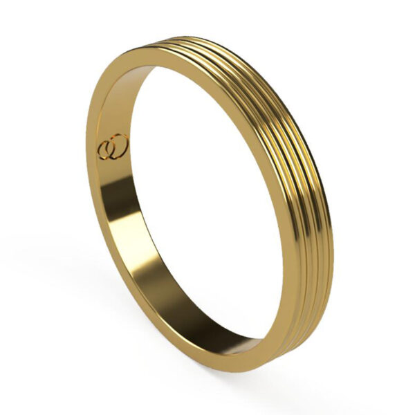 Uniti Saturn Yellow Gold Wedding Ring for her