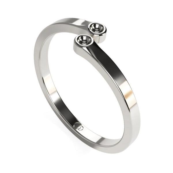 Uniti Polar Platinum white gold silver Ring