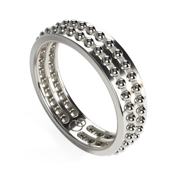 Uniti Royalti Platinum white gold silver Ring