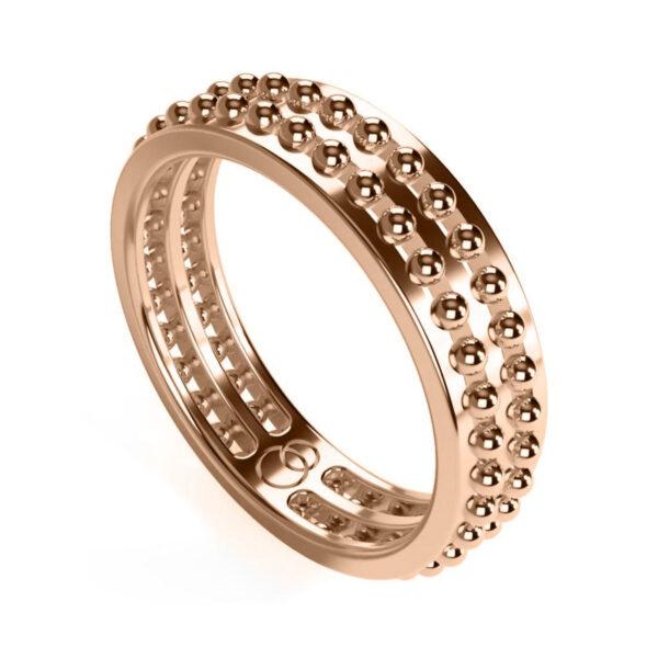 Uniti Royalti Red Gold Ring