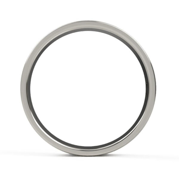 Uniti Saturn Platinum white gold silver Wedding Ring for him