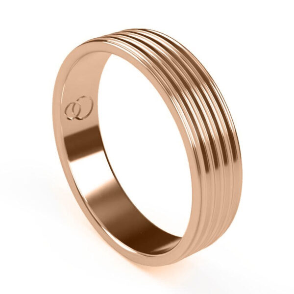 Uniti Saturn Red Gold Wedding Ring for him