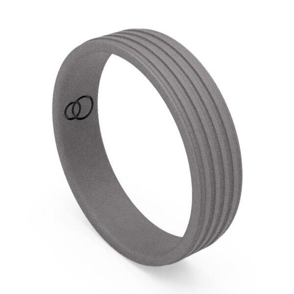 Uniti Saturn Titanium Wedding Ring for him