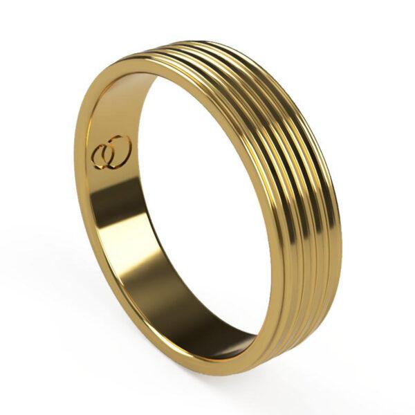 Uniti Saturn Yellow Gold Wedding Ring for him
