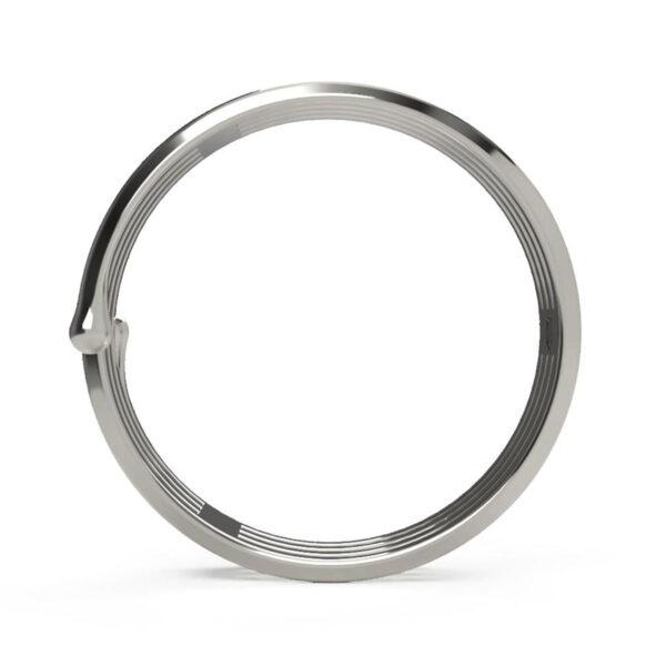 Uniti Spiral Platinum white gold silver Ring
