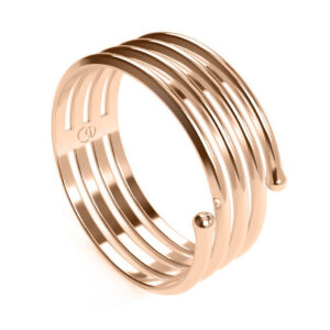 Uniti Spiral Red Gold Ring