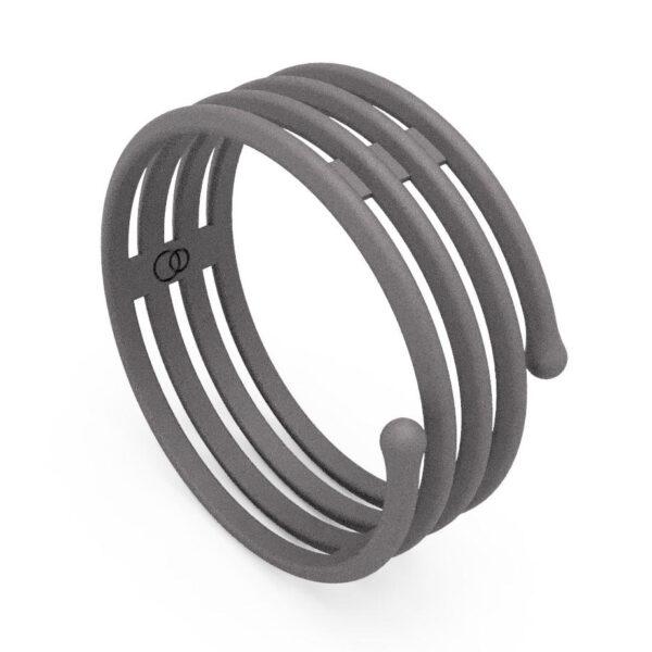 Uniti Spiral Titanium Ring