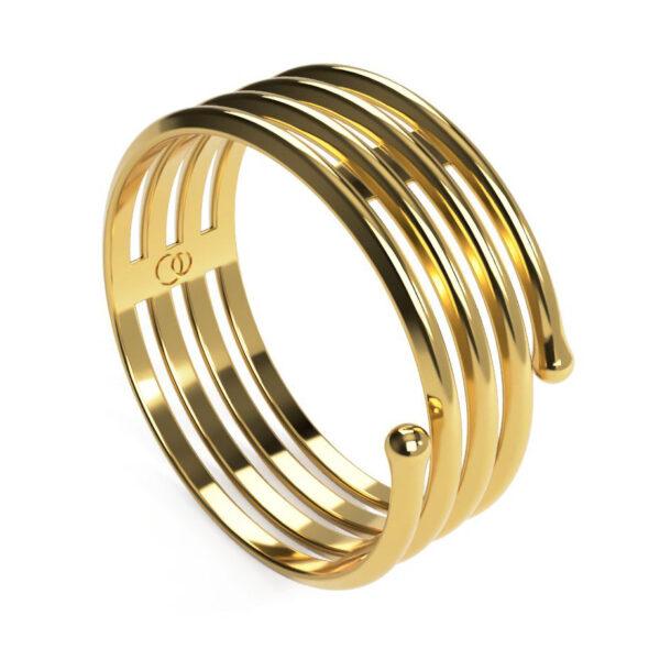 Uniti Spiral Yellow Gold Ring