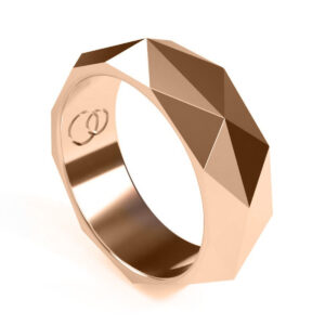 Uniti Tetra red gold Ring