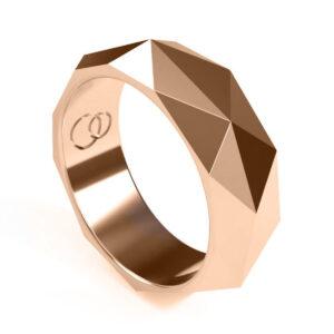 Uniti Tetra red gold Ring