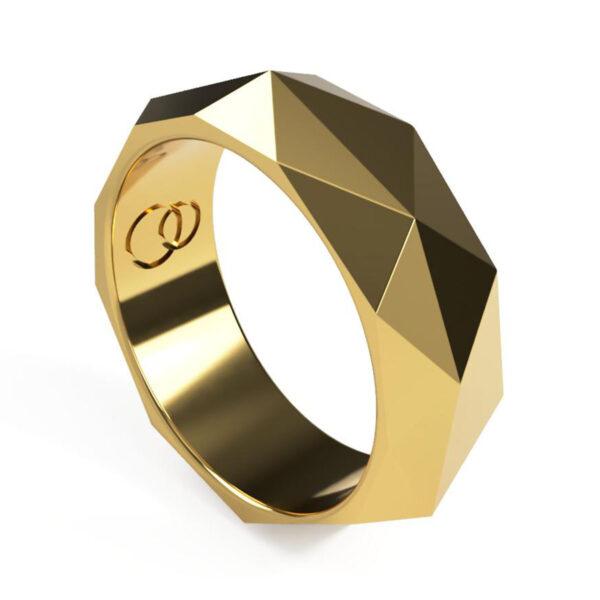 Uniti Tetra Yellow Gold Ring