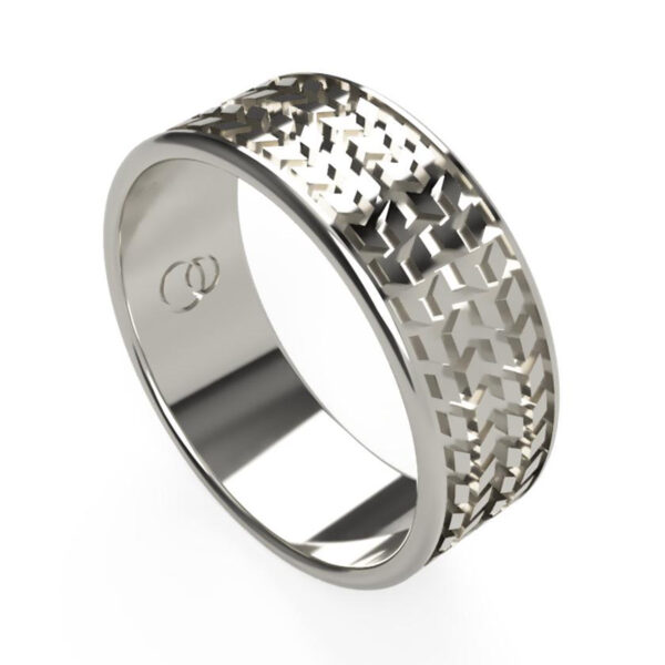 Uniti Tread Platinum white gold silver Ring