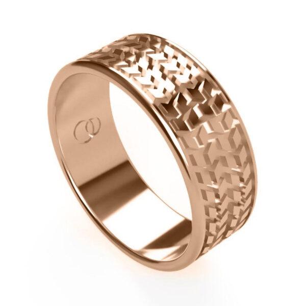 Uniti Tread Red Gold Ring