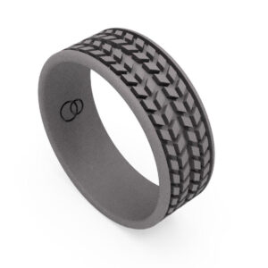 Uniti Tread Titanium Ring