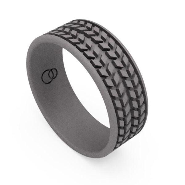 Uniti Tread Titanium Ring