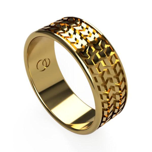 Uniti Tread Yellow Gold Ring