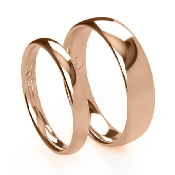 Uniti Court Red Gold Wedding Ring His and Hers