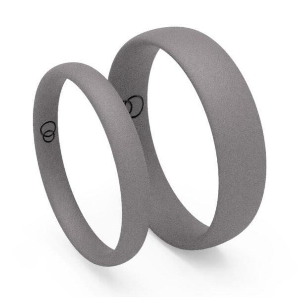 Uniti Court Titanium Wedding Ring His and Hers