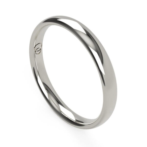 Uniti Court Platinum white gold silver Wedding Ring for her