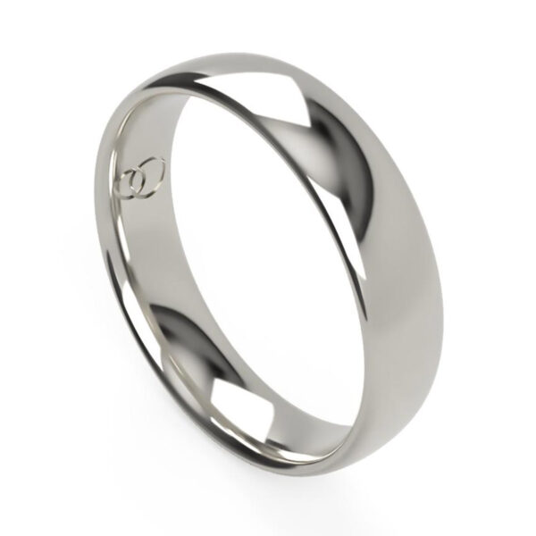 Uniti Court Platinum white gold silver Wedding Ring for him