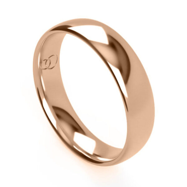 Uniti Court red gold Wedding Ring for him