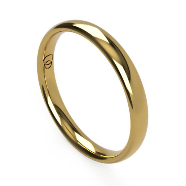 Uniti Court yellow gold Wedding Ring for her