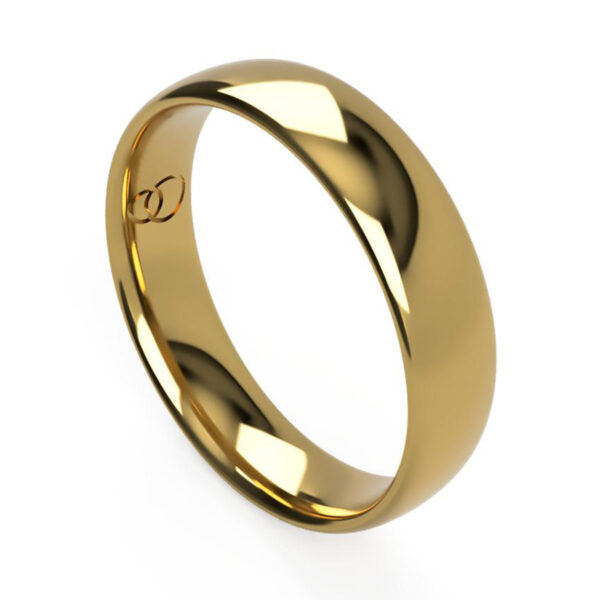 Uniti Court yellow gold Wedding Ring for him